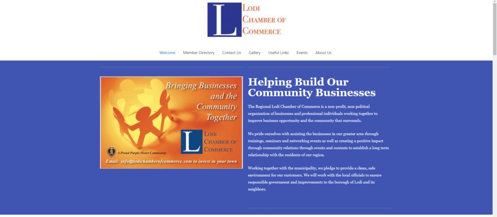 Lodi Chamber of Commerce screenshot